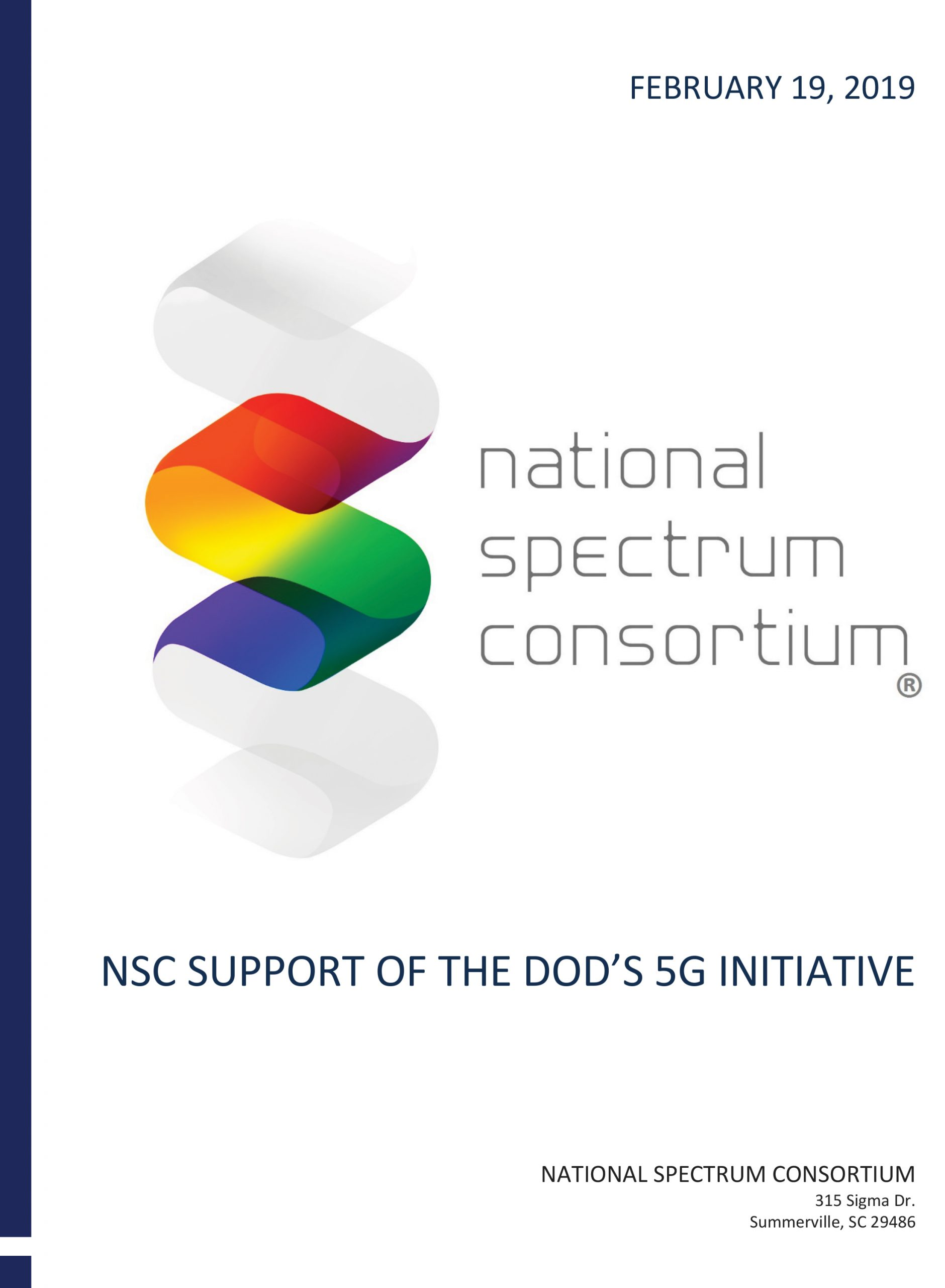 NSC Support of the DoD's 5G Initiative Cover